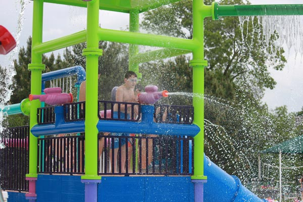 Lions Park Pool - Multi Level Play Structure with Spray Features