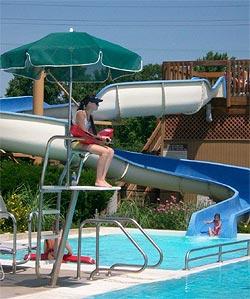 Lions Park Pool Slide