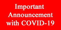 Important Announcement with COVID-19