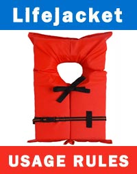 LifeJacket Usage Rules